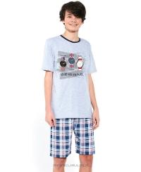 Пижама для парней подростков Cornette 551/34 TIME TO TRAVEL